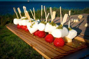 Marshmallow Erdbeer Spieße