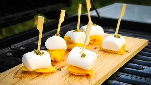 Marshmallow Mango Spieße