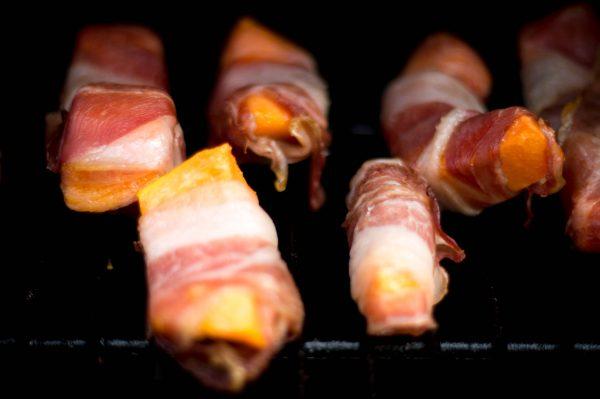 Papaya Bacon Bites