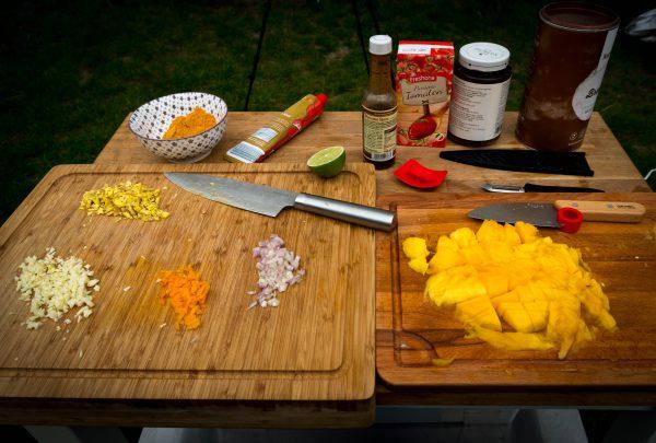 Mango-Curry-Sauce - Vorbereitungen