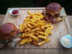 Smashed Skirt Bacon Burger