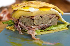 Pancakes Burger Querschnitt