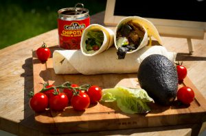 Schweinefilet Wraps mit Chipotles in Adobo