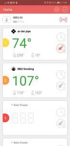 Inkbird Temperaturanzeige