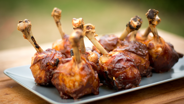 Bacon Chicken Lollipops