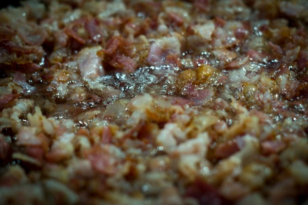 Bacon auslassen