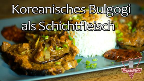 Bulgogi Schichtfleisch aus dem Dutch Oven