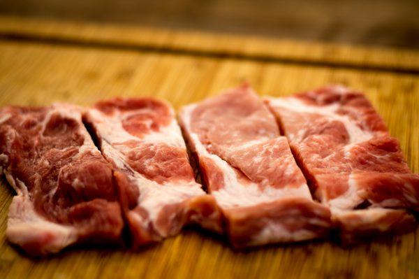Schweinenacken für Pork Skewers