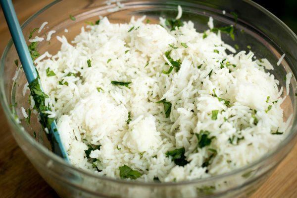 Limetten Koriander Reis