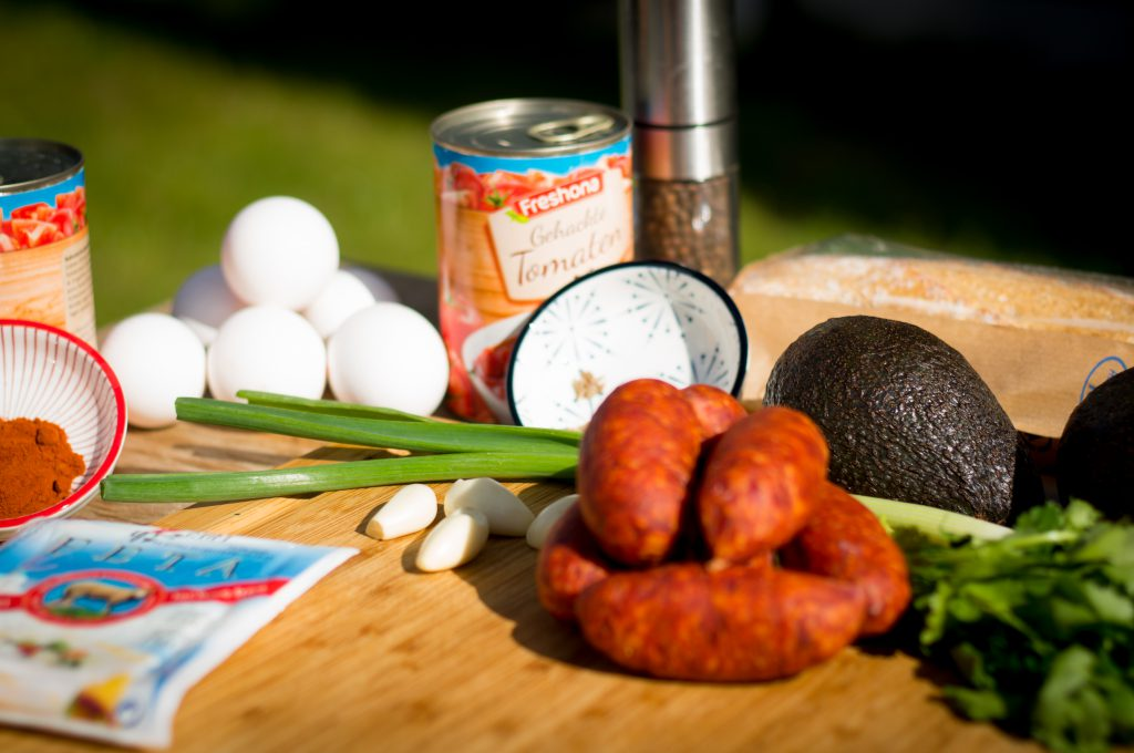 Mexican Shakshuka ingredients