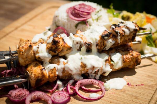 Shish Taouk - Shish Tawook - libanesische Hähnchenspieße