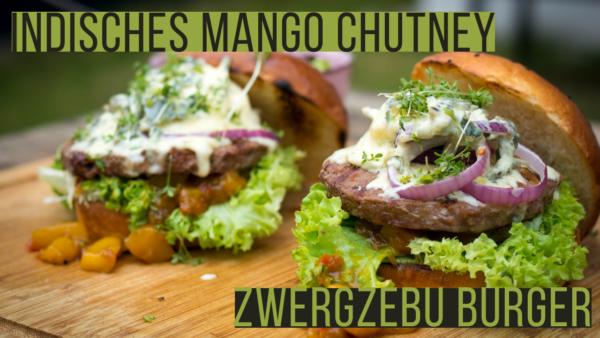 Indisches Mango Chutney für Zwergzebu Burger