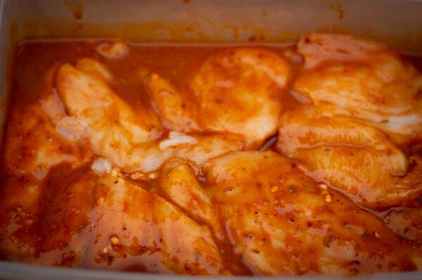 Chicken Fajita marinieren