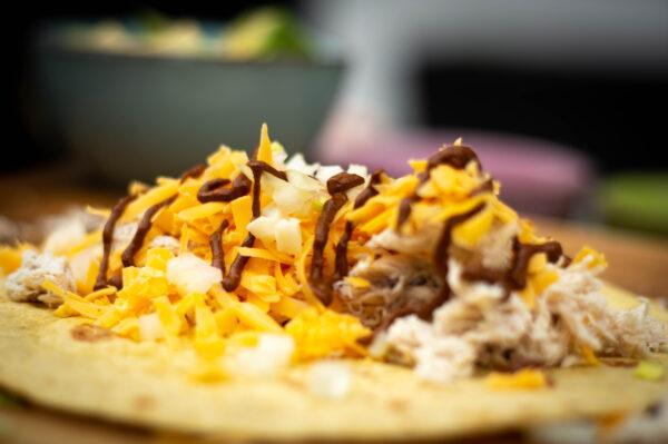 Enchiladas gefüllt
