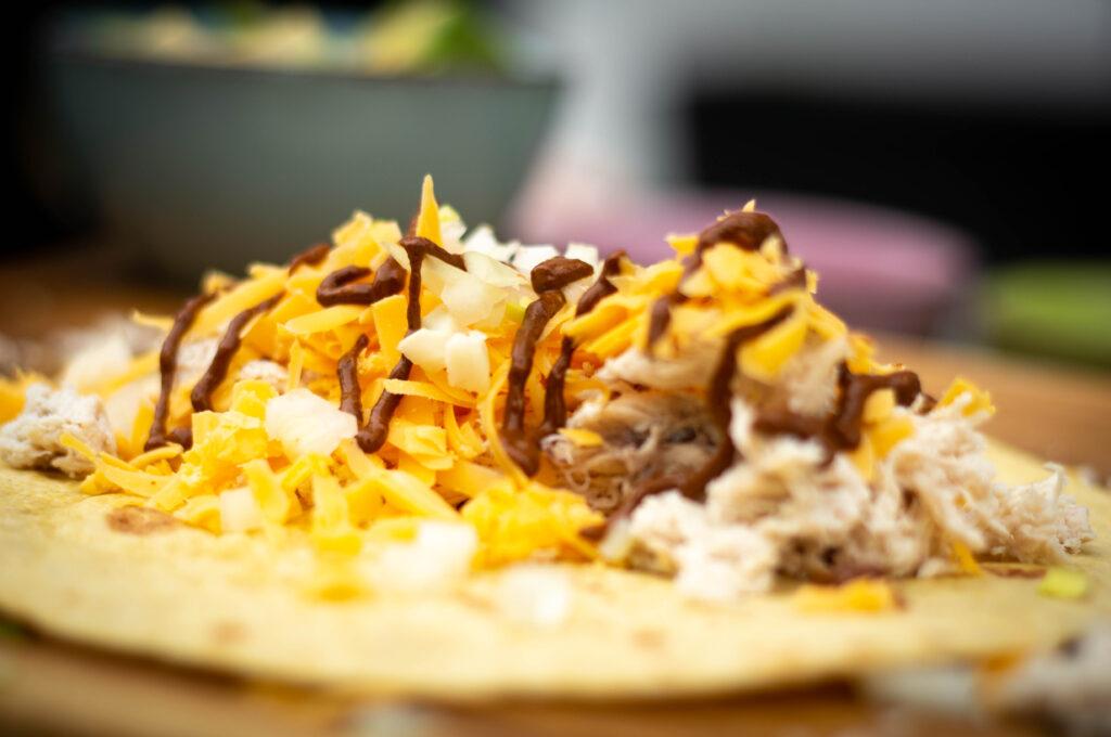 Enchiladas Füllen