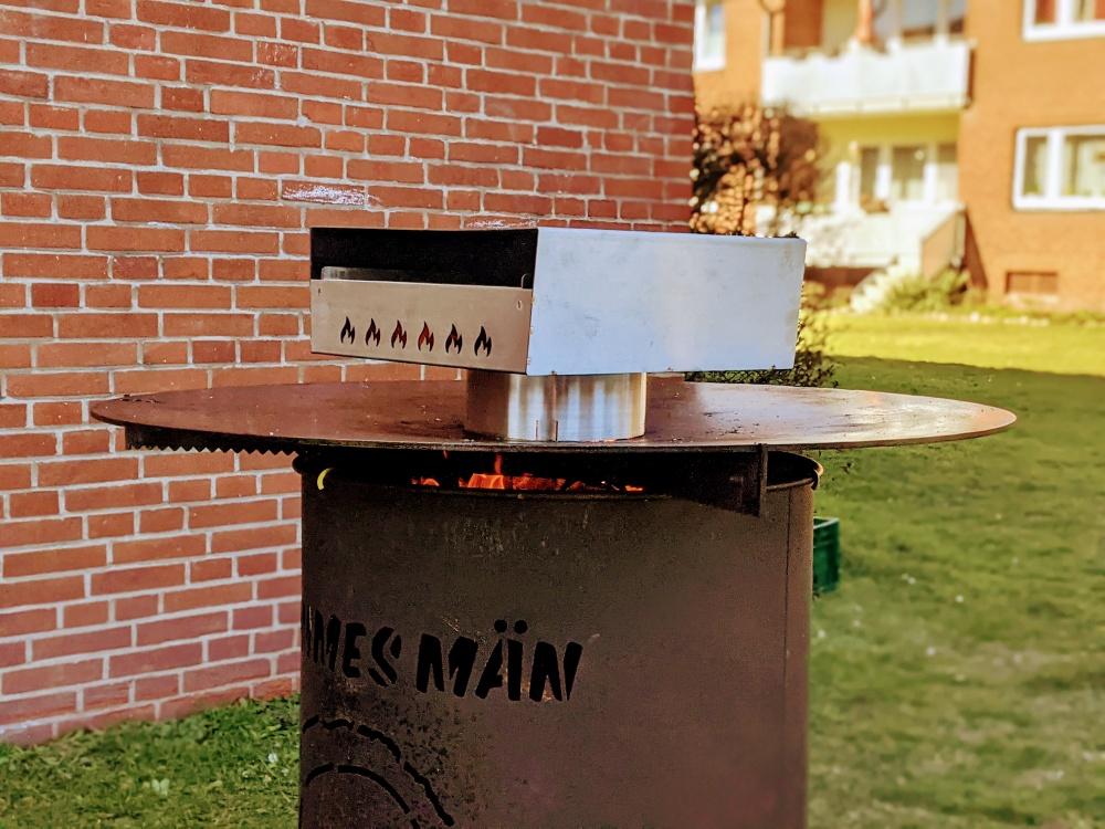 grillrost.com pizzabox für Feuerplatte