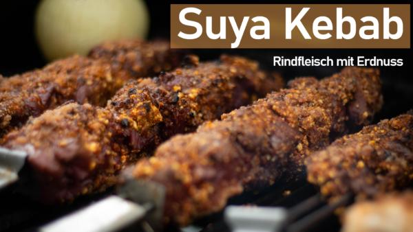 Suya Kebab - Rindfleisch mit Erdnusskruste