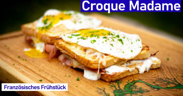 Croque Madame – französisches Frühstücks Sandwich
