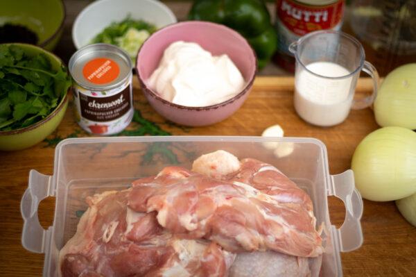 chicken paprikash - Zutaten