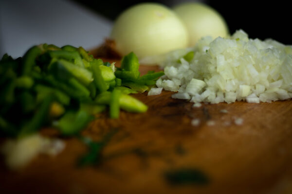 Gemüse vor bereiten