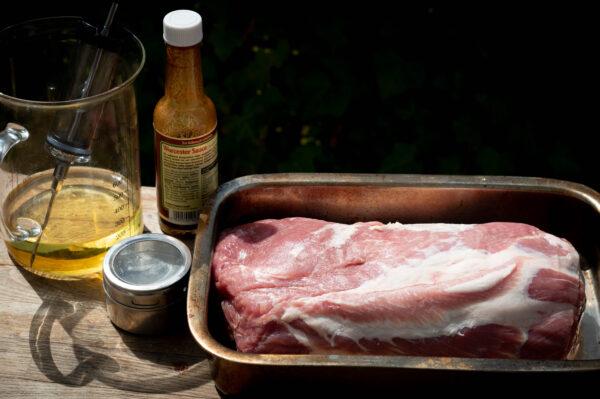 Pulled Pork einspritzen