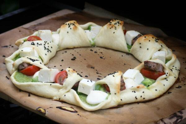 Pizzaring zubereiten