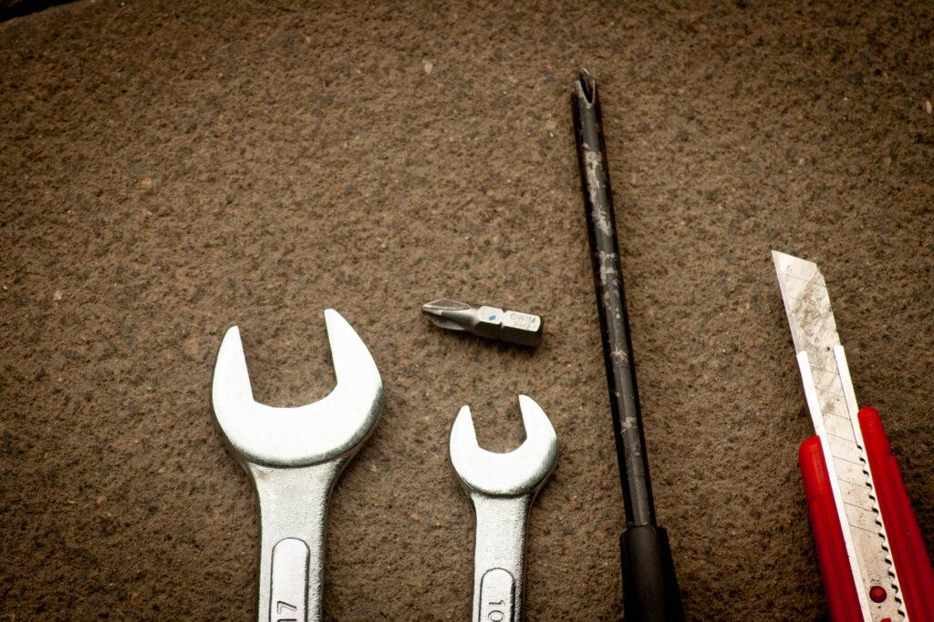Werkzeug für den Aufbau